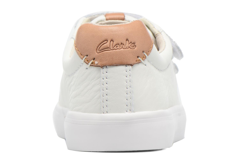 Baskets Clarks Brill Rap Blanc vue droite