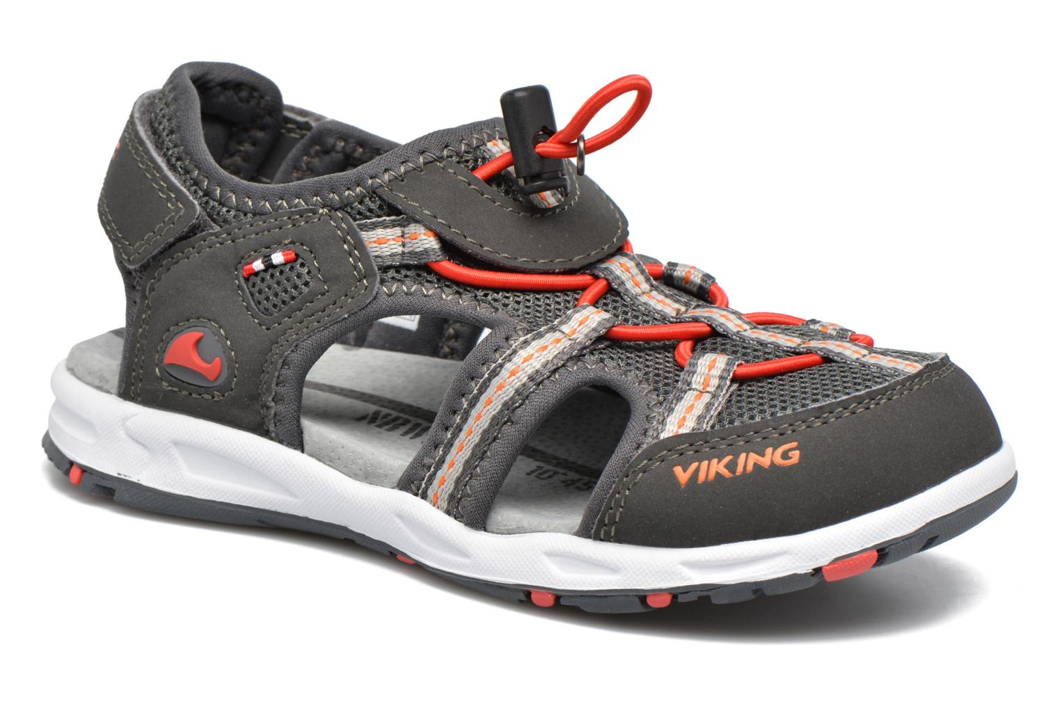 Viking Sandales Thrill Enfant Charcoal/Red 2cc3KN