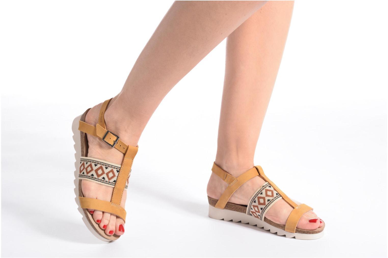 Sandales et nu-pieds P-L-D-M By Palladium Rieti Jaune vue bas / vue portée sac