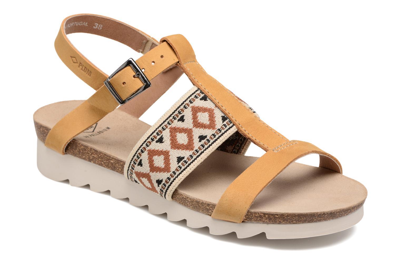 Sandales et nu-pieds P-L-D-M By Palladium Rieti Jaune vue détail/paire