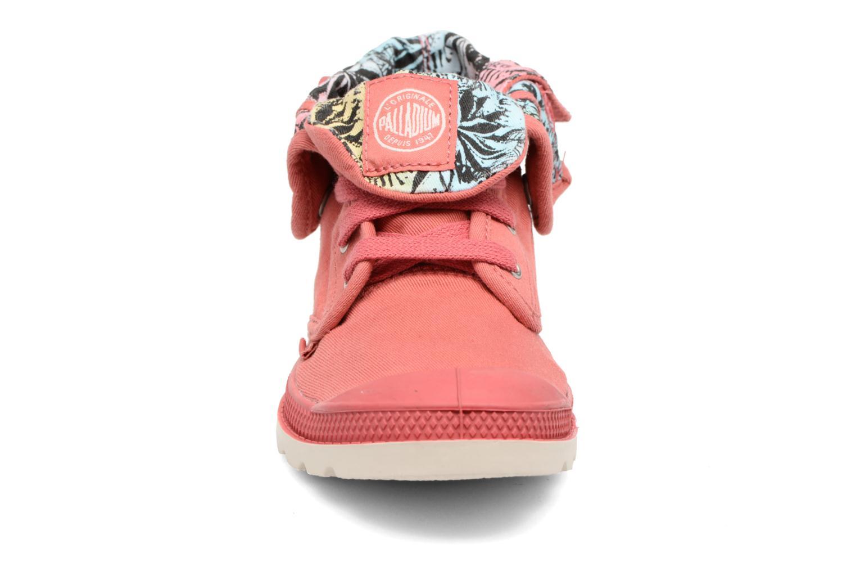 Bottines et boots Palladium Baggy Lo Lp K Rose vue portées chaussures