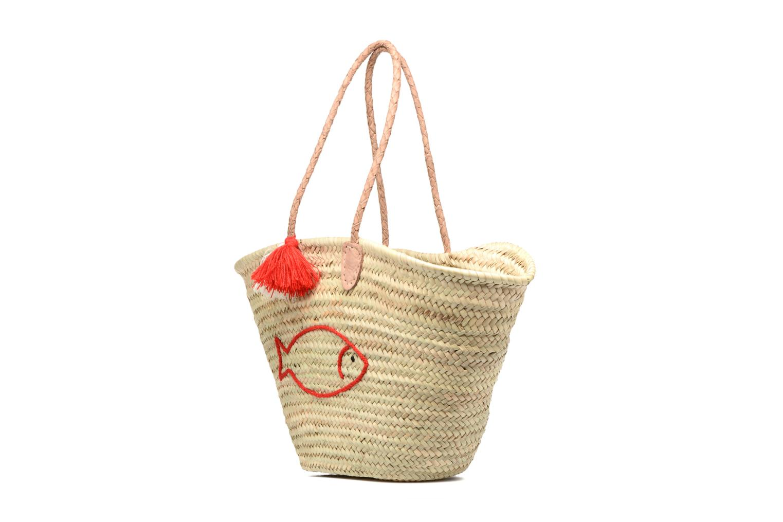 Handtassen Etincelles Panier artisanal Poisson Rouge Rood model