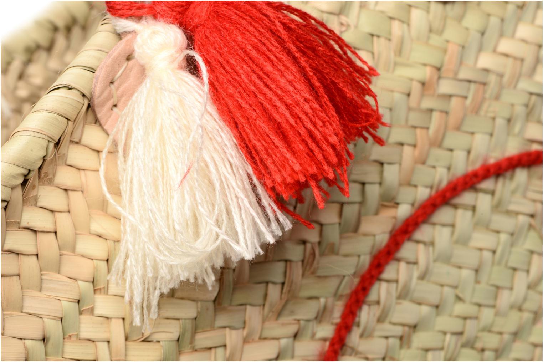 Sacs à main Etincelles Panier artisanal Poisson Rouge Rouge vue gauche