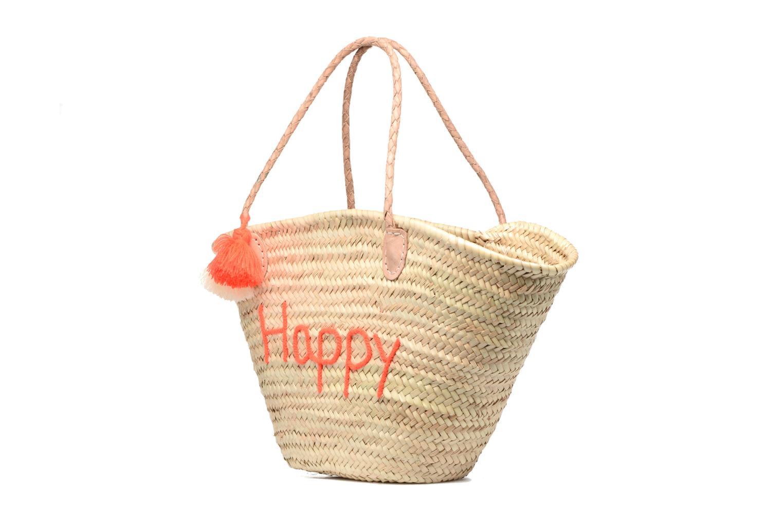 Bolsos de mano Etincelles Panier artisanal Happy Orange Fluo Naranja vista del modelo