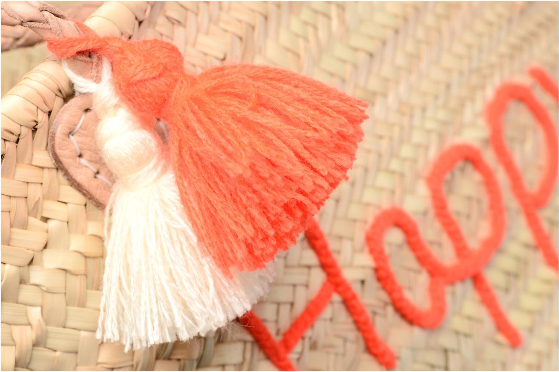 Sacs à main Etincelles Panier artisanal Happy Orange Fluo Orange vue gauche