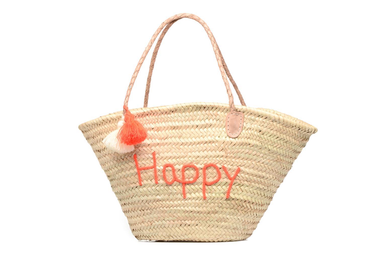 Handtassen Etincelles Panier artisanal Happy Orange Fluo Oranje detail