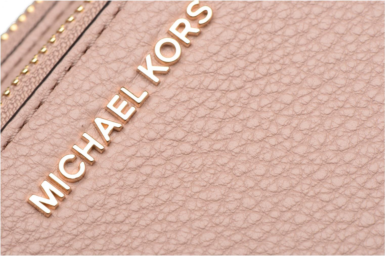 Bolsos de mano Michael Michael Kors ADELE DBL GUSSET CROSSBODY Rosa vista lateral izquierda
