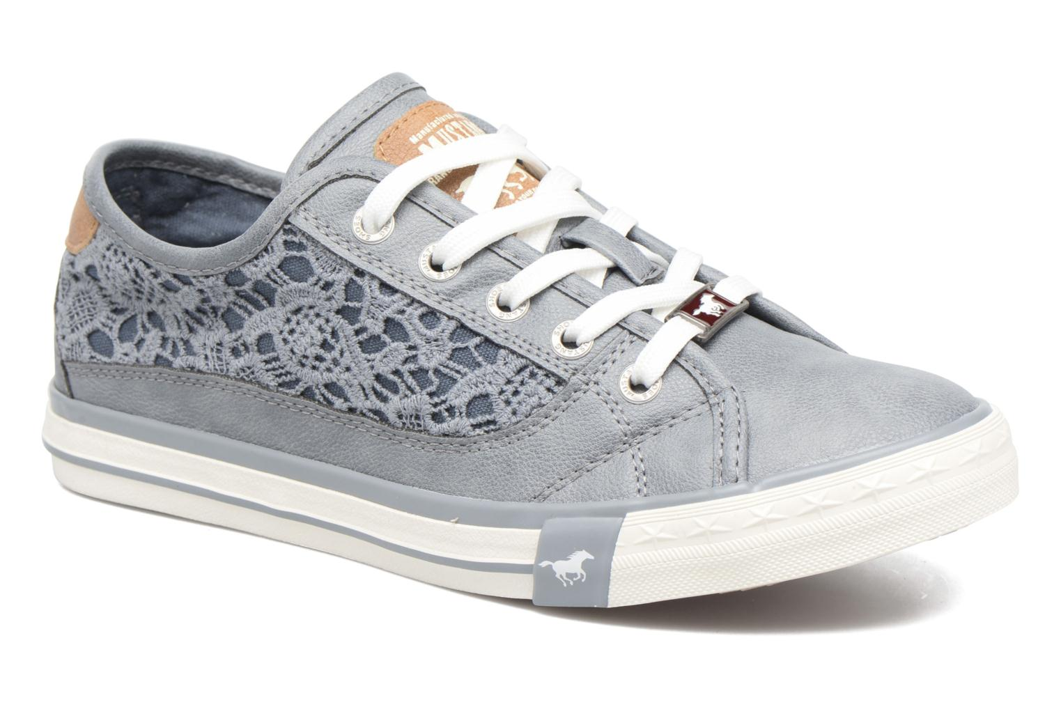 Baskets Mustang shoes Smith N Bleu vue détail/paire