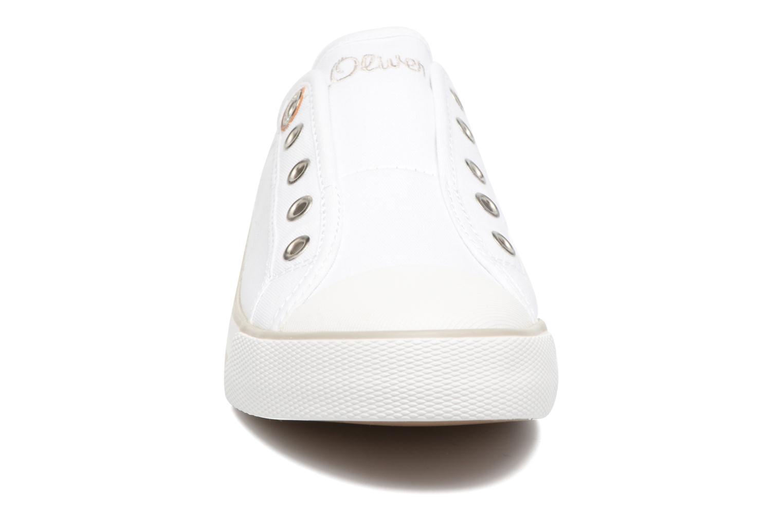 Baskets S.Oliver Topinambour Blanc vue portées chaussures