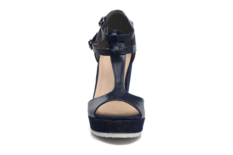 Sandales et nu-pieds S.Oliver Prune Bleu vue portées chaussures