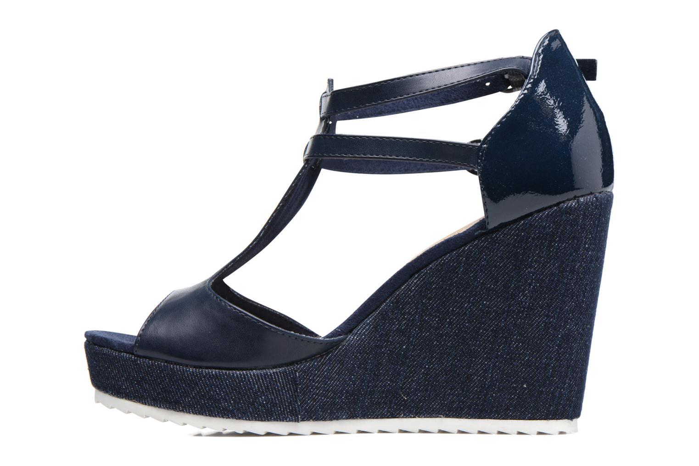 Sandales et nu-pieds S.Oliver Prune Bleu vue face