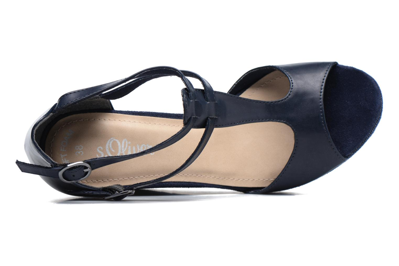 Sandales et nu-pieds S.Oliver Prune Bleu vue gauche