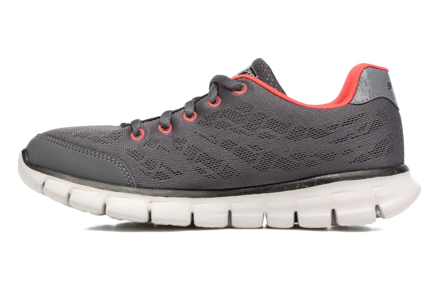 Baskets Skechers Synergy Fine-Tune Gris vue face