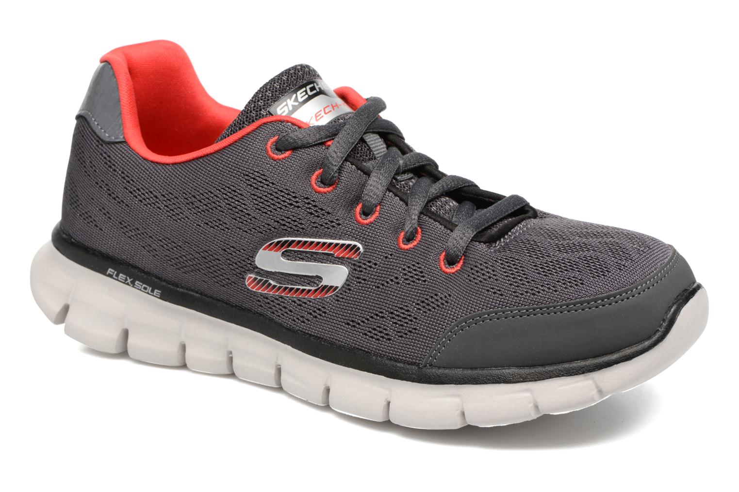 Baskets Skechers Synergy Fine-Tune Gris vue détail/paire