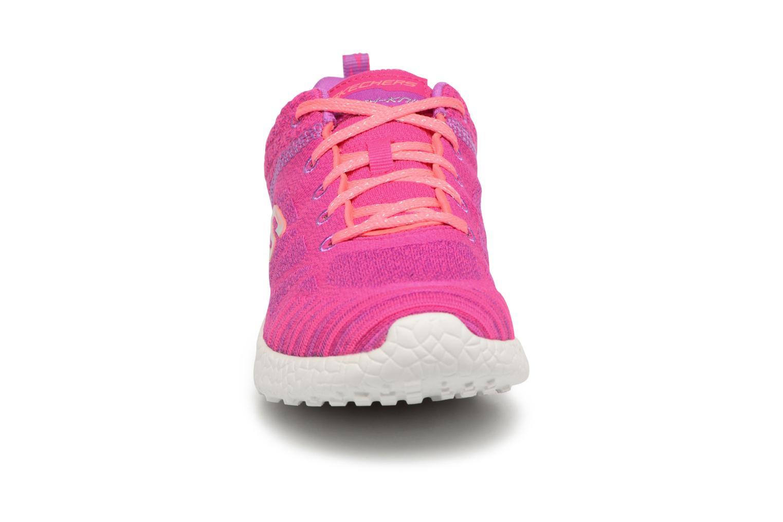 Baskets Skechers Burst 1 Rose vue portées chaussures