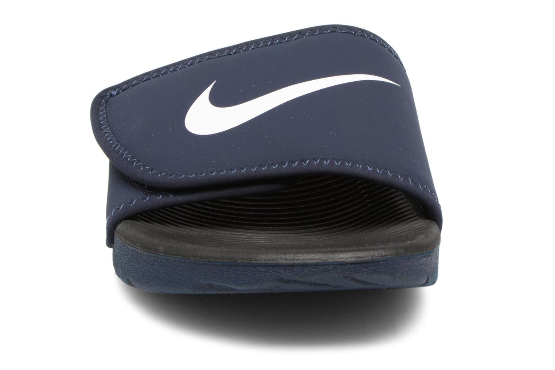 Sandales et nu-pieds Nike Nike Kawa Adjust (Gs/Ps) Bleu vue portées chaussures