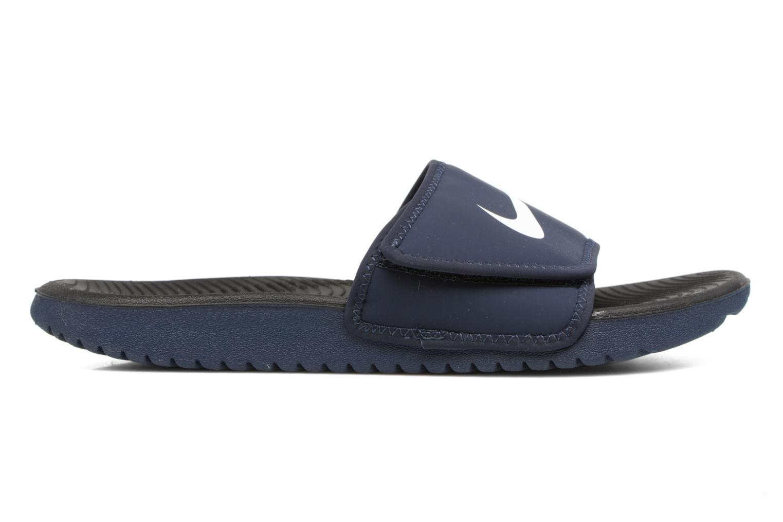 Sandales et nu-pieds Nike Nike Kawa Adjust (Gs/Ps) Bleu vue derrière
