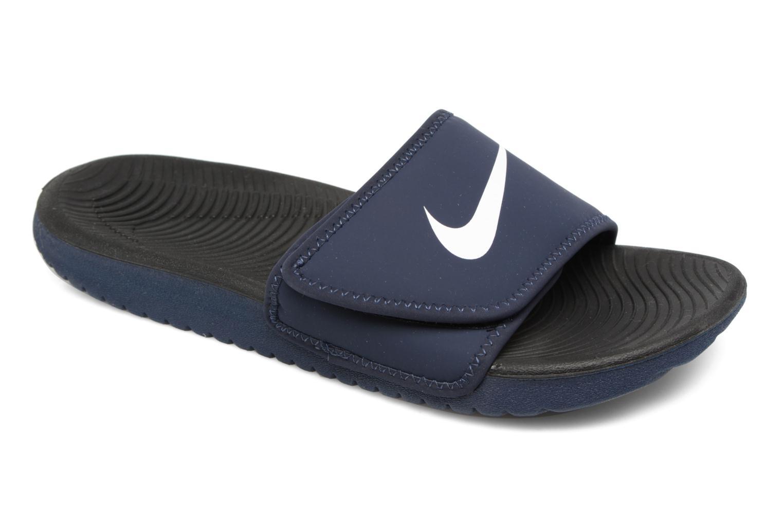 Sandales et nu-pieds Nike Nike Kawa Adjust (Gs/Ps) Bleu vue détail/paire