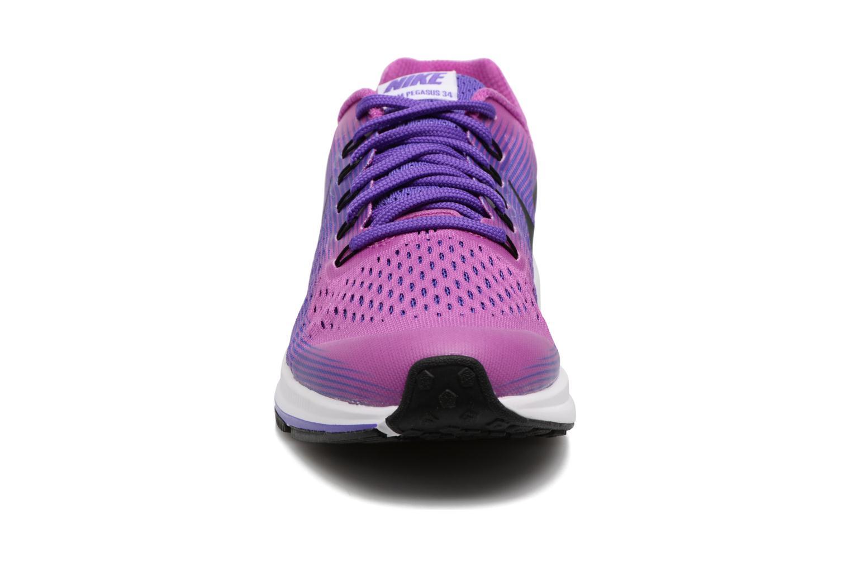 Baskets Nike Nike Zoom Pegasus 34 (Gs) Violet vue portées chaussures