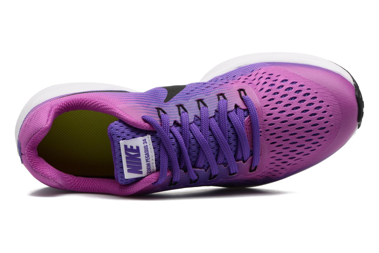 Baskets Nike Nike Zoom Pegasus 34 (Gs) Violet vue gauche