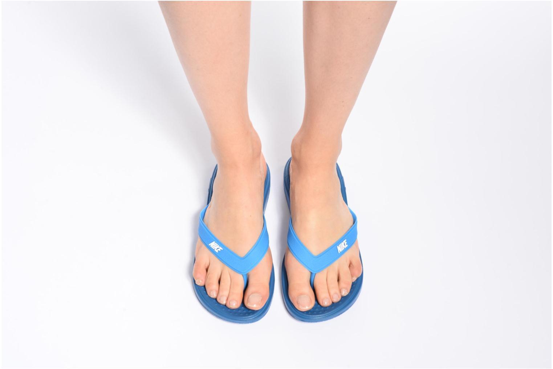 Tongs Nike Nike Solay Thong (Gs/Ps) Noir vue bas / vue portée sac