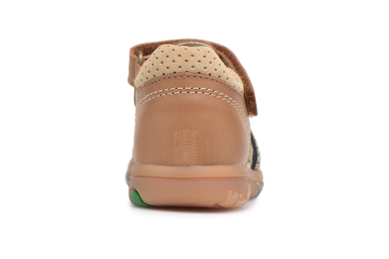 Sandali e scarpe aperte Kickers Platiback Marrone immagine destra