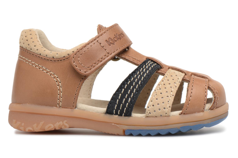 Sandali e scarpe aperte Kickers Platiback Marrone immagine posteriore