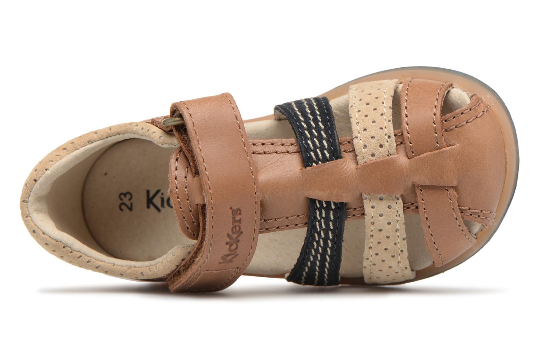 Sandali e scarpe aperte Kickers Platiback Marrone immagine sinistra