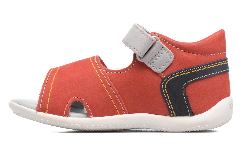 Sandales et nu-pieds Kickers Bicubasurf Rouge vue face