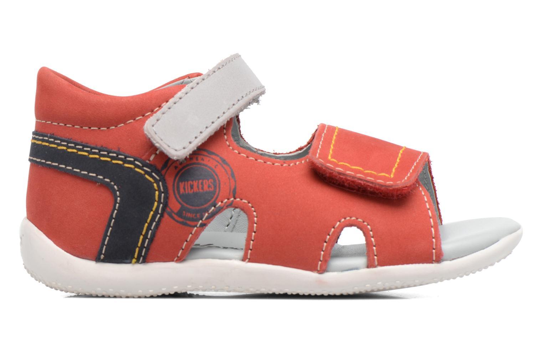 Sandales et nu-pieds Kickers Bicubasurf Rouge vue derrière