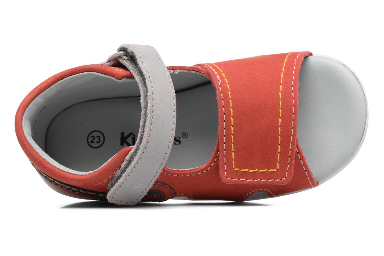 Sandales et nu-pieds Kickers Bicubasurf Rouge vue gauche
