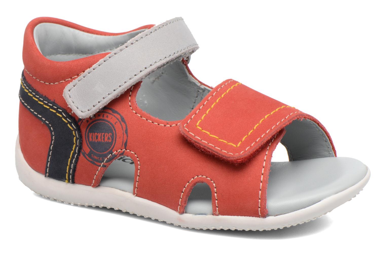 Sandales et nu-pieds Kickers Bicubasurf Rouge vue détail/paire