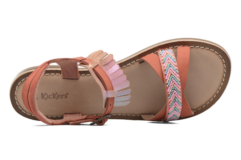 Sandales et nu-pieds Kickers Dixie Rose vue gauche