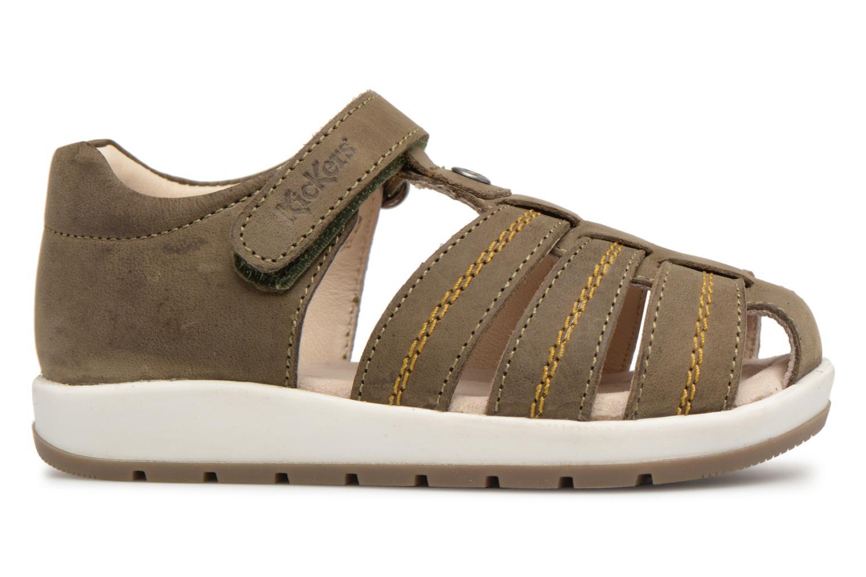 Sandales et nu-pieds Kickers Solaz Vert vue derrière