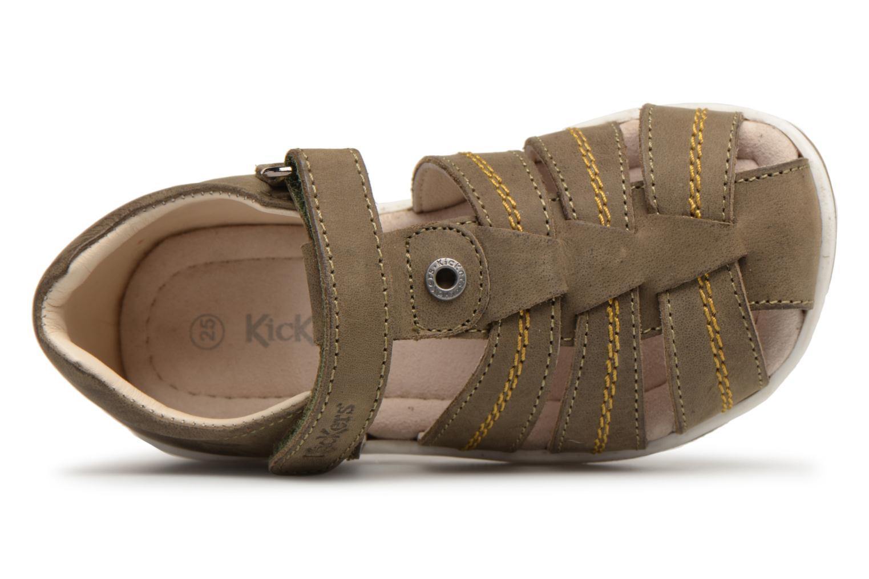Sandales et nu-pieds Kickers Solaz Vert vue gauche
