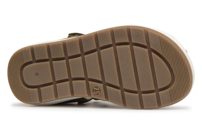 Sandales et nu-pieds Kickers Solaz Vert vue haut