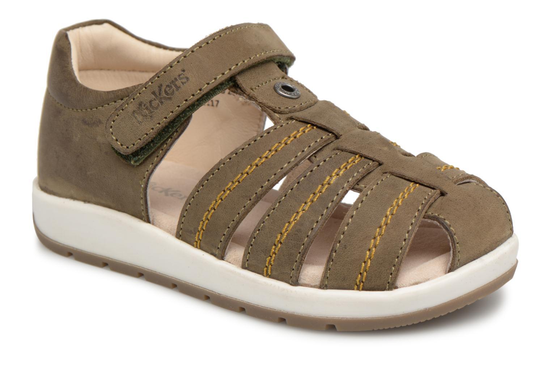 Sandales et nu-pieds Kickers Solaz Vert vue détail/paire