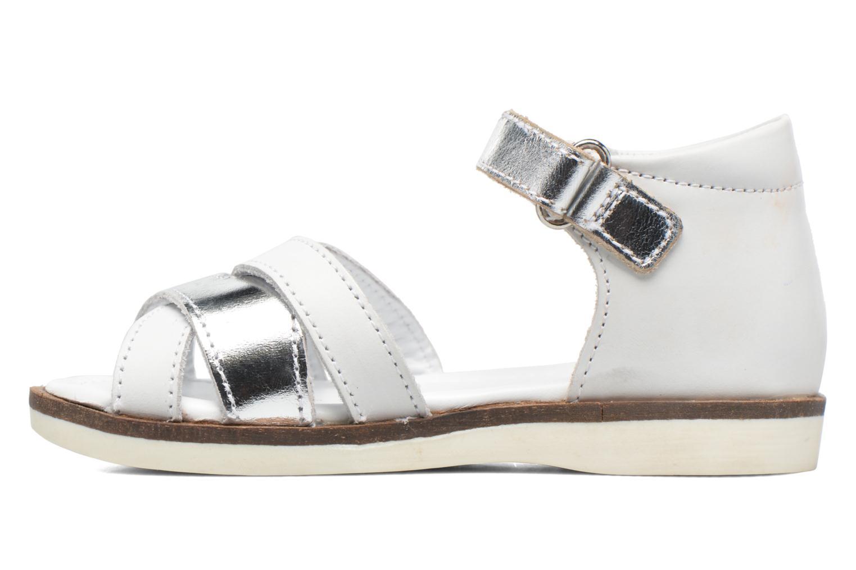 Sandalen Kickers Gigi Girl weiß ansicht von vorne
