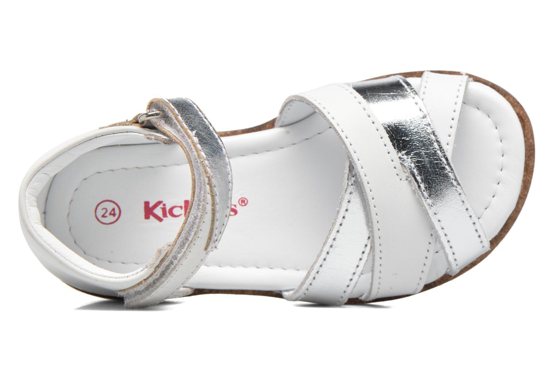 Sandalen Kickers Gigi Girl weiß ansicht von links