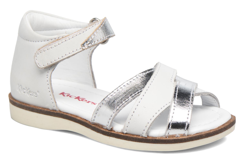 Sandalen Kickers Gigi Girl weiß detaillierte ansicht/modell