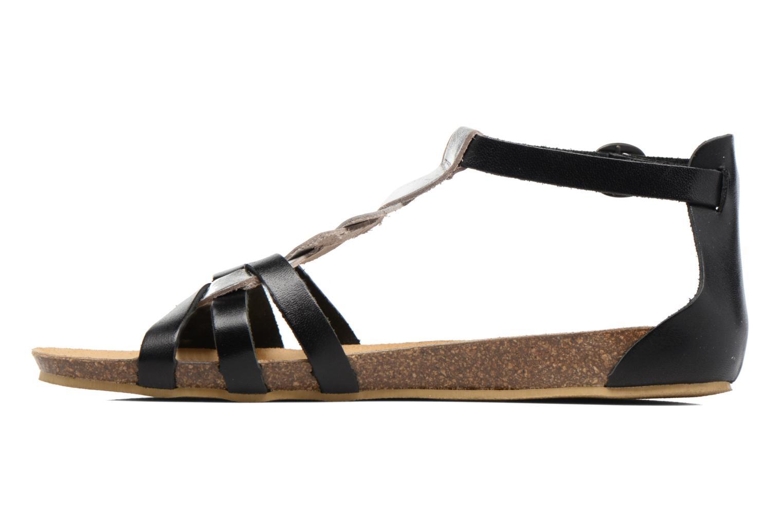 Sandalen Kickers Bomtardes schwarz ansicht von vorne
