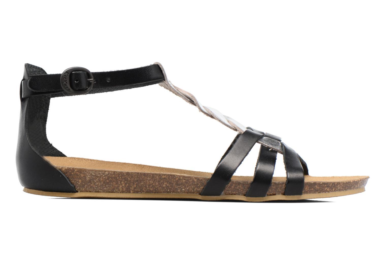 Sandalen Kickers Bomtardes schwarz ansicht von hinten
