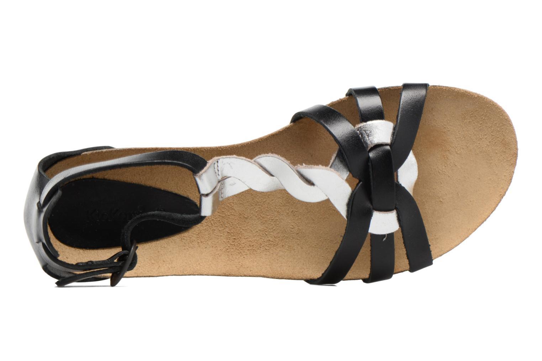 Sandalen Kickers Bomtardes schwarz ansicht von links