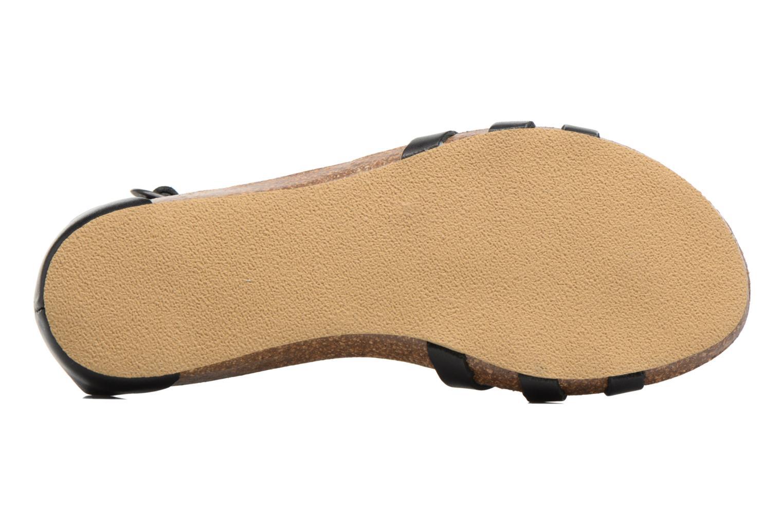 Sandalen Kickers Bomtardes schwarz ansicht von oben