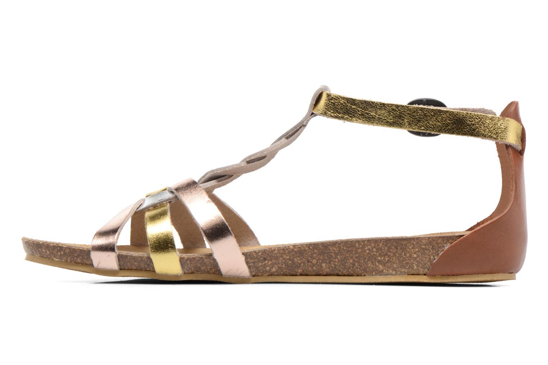 Sandales et nu-pieds Kickers Bomtardes Or et bronze vue face