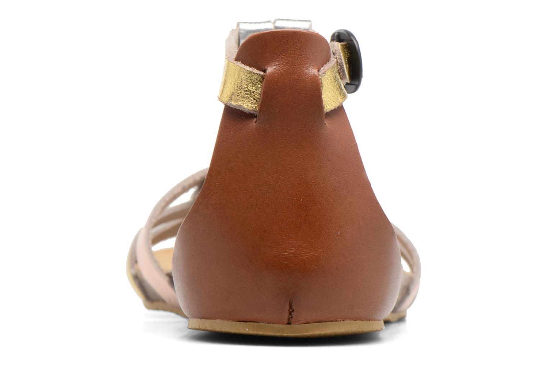 Sandales et nu-pieds Kickers Bomtardes Or et bronze vue droite