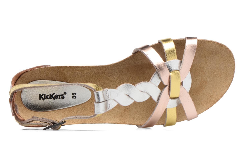 Sandales et nu-pieds Kickers Bomtardes Or et bronze vue gauche