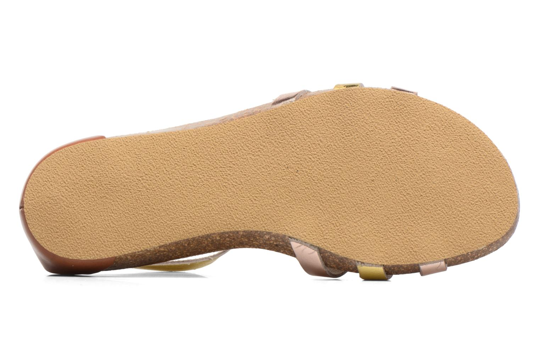 Sandales et nu-pieds Kickers Bomtardes Or et bronze vue haut