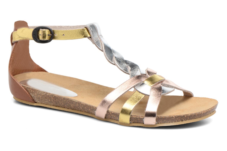 Sandales et nu-pieds Kickers Bomtardes Or et bronze vue détail/paire