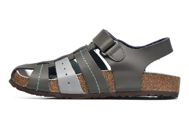 Sandales et nu-pieds Kickers Maginuevo Gris vue face